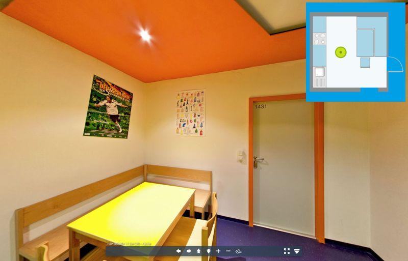 Virtuelle Tour durch die Küche einer 3er WG