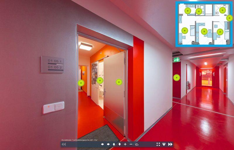 Virtuelle Tour durch das behindertengerechte Einzelapartment